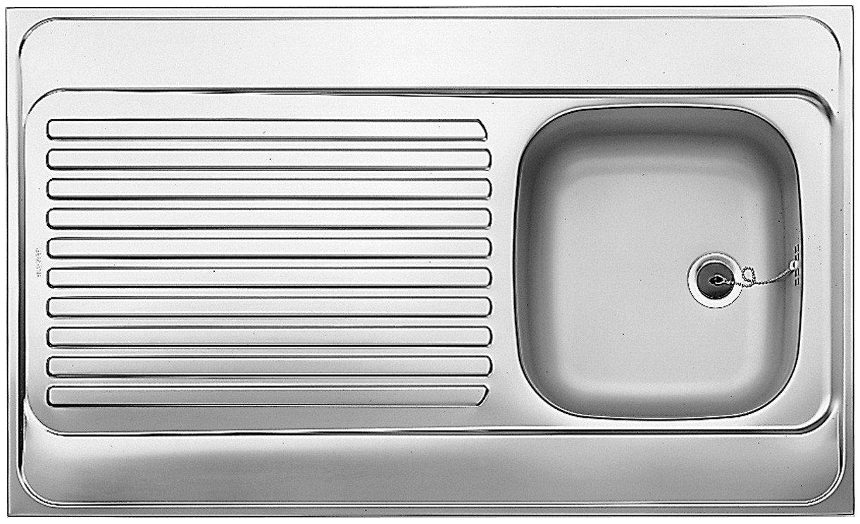 Blanco Auflagespü le R-ES 10 x 6 Edelstahl-Spü le Naturfinish 510503