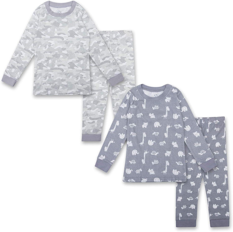 Gentle Organics 100% Organic Cotton Unisex Pajamas 4 Piece Pajama Sets - 100% Organic Cotton (Infant/Toddler)