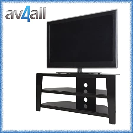 Avf Vico Black Corner Tv Stand For Up To 55 Inch Tvs Amazon Co Uk Kitchen Home