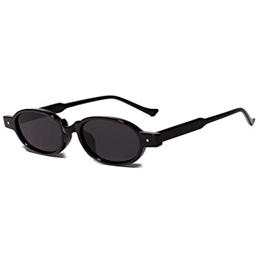 Amazon.com: Fashion Small Oval Sunglasses Women Retro Nail ...