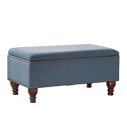Attirant Contemporary Storage Bench Seat   Fabric Upholstered Indoor Ottoman For  Entryway, Bedroom, Living Room
