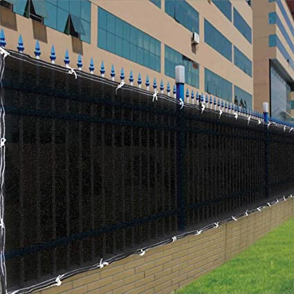 Amazoncom Black Privacy Screen for Fences with 90 Visibility
