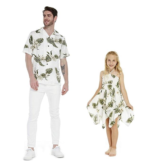 Luau Hawaiano a Juego para Padre e Hija, Camisa para Hombre ...
