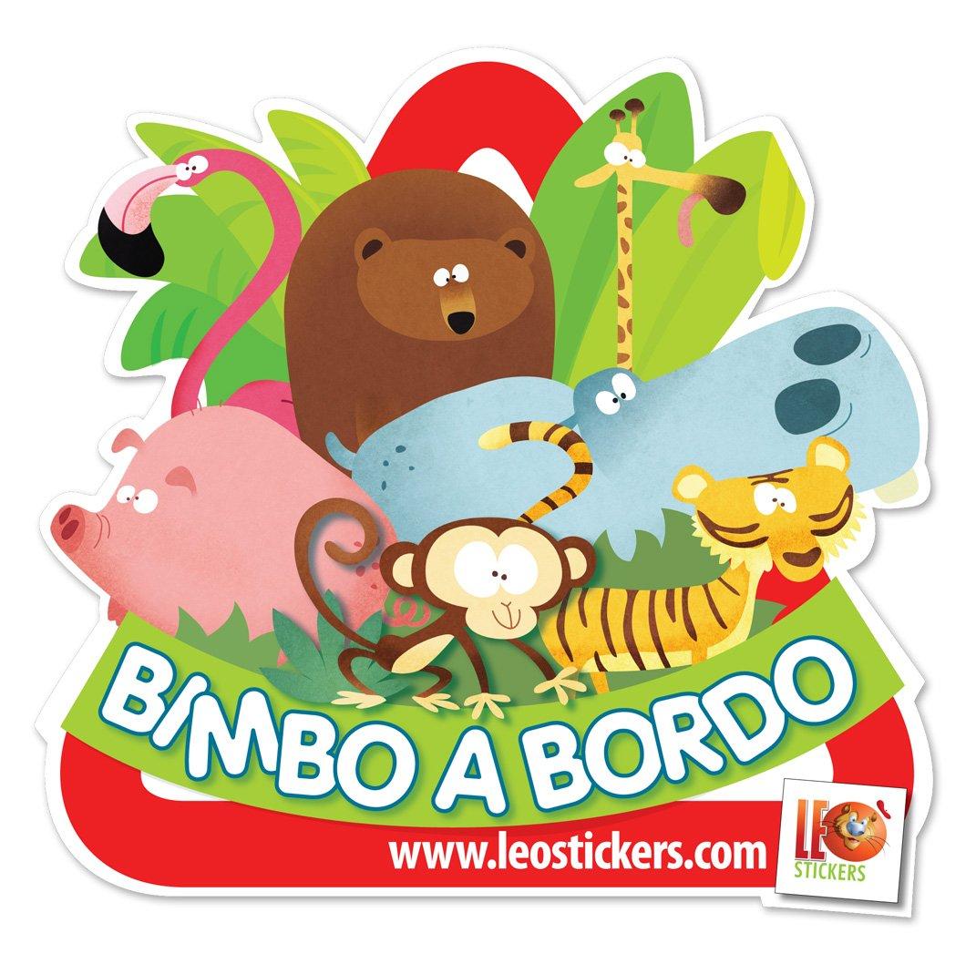 Bambino a bordo Extra visibilit/à anche su vetri oscurati Baby on board. LeoStickers/® Bimbo A Bordo Loriginale adesivo per auto firmato LeoStickers/®