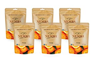 Nemra Orange Air Dried Fruit Chips, (Pack Of 6)