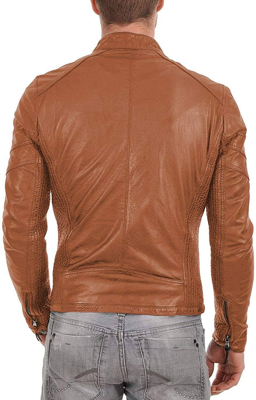 Laverapelle Mens Genuine Lambskin Leather Jacket 1501501 Black, Fencing Jacket