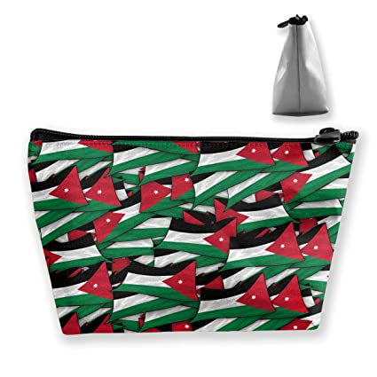 6f5e0263ff1cc3 Image Unavailable. Image not available for. Color  Double Y Jordan Flag  Wave Collage Cosmetic Bags Zipper ...