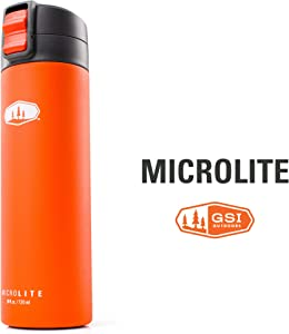 GSI Outdoors, Microlite 720 Flip 24 fl.oz. Vacuum Insulated Stainless Steel Water Bottle
