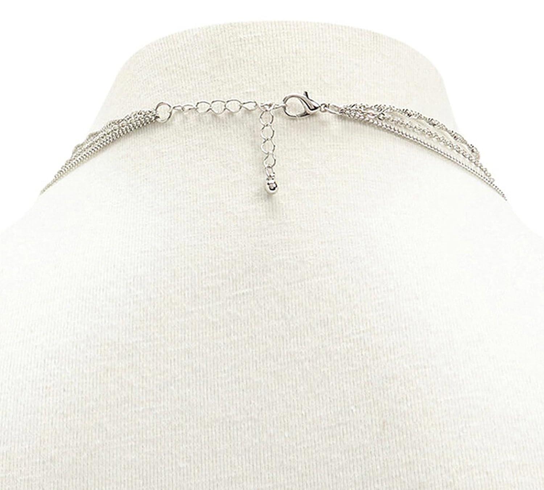 d99e0f7b6465 Bishilin collares con colgantes de medallones baratos Cadena collar de múltiples  capas colgantes nombres  Amazon.es  Joyería