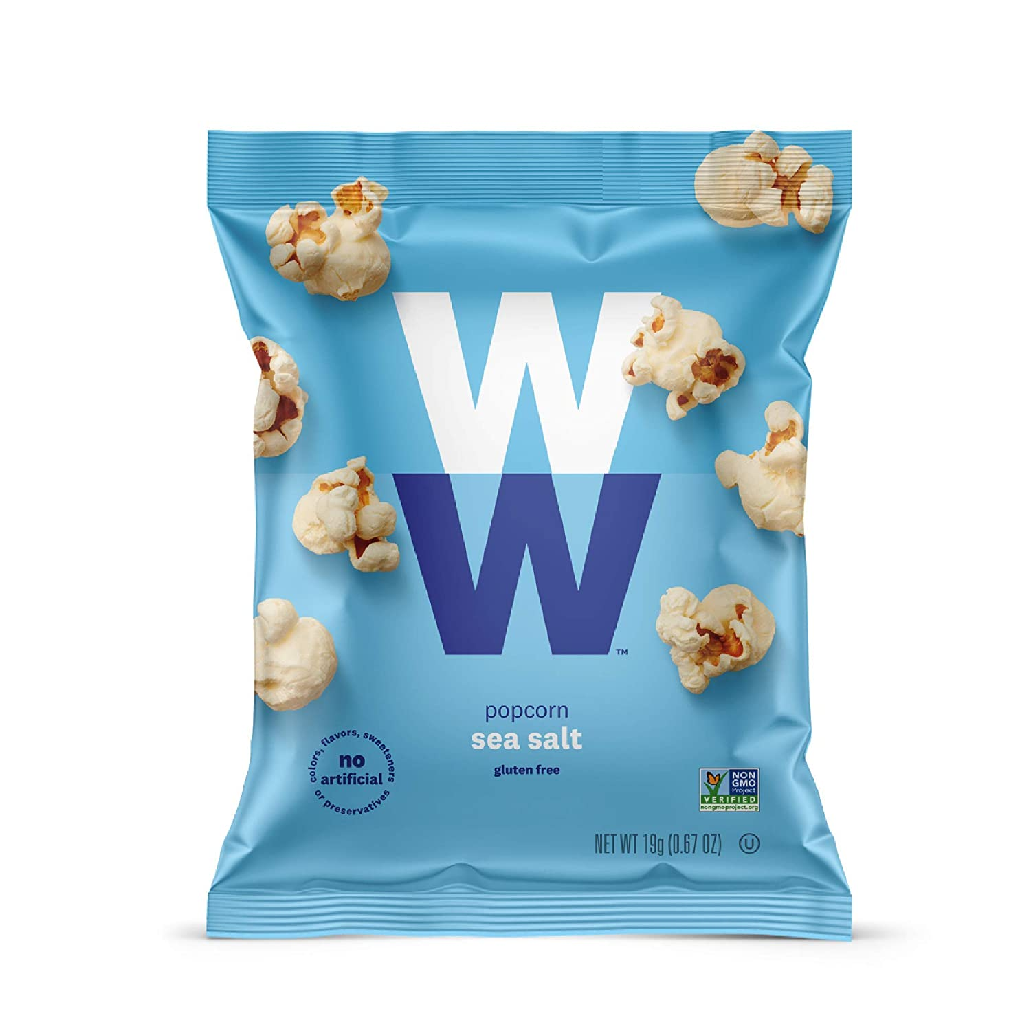 WW Sea Salt Popcorn - Gluten-free, 2 SmartPoints - 12 Bags Total - Weight Watchers Reimagined