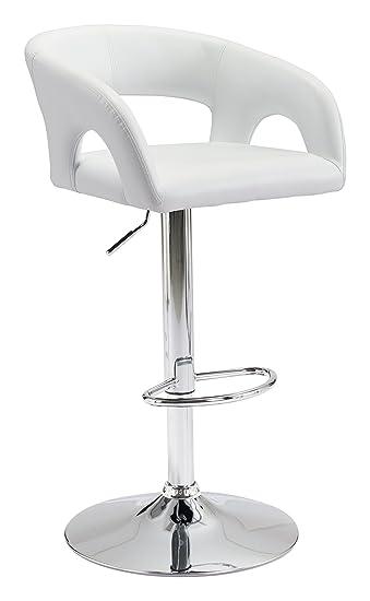 Fine Amazon Com Zuo Modern 100611 Hark Bar Chair White Ultra Creativecarmelina Interior Chair Design Creativecarmelinacom