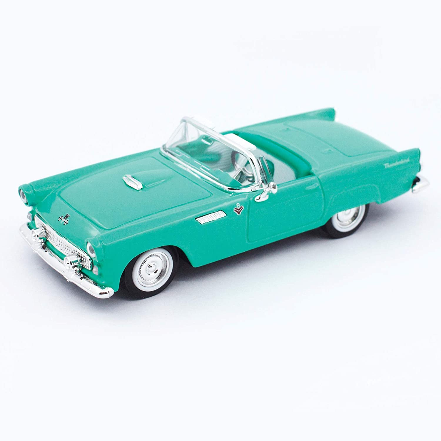 1955 FORD THUNDERBIRD TURQUOISE 1//43 DIECAST MODEL CAR BY ROAD SIGNATURE 94228