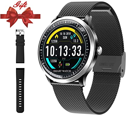 Smart Watch for Android iOS Phone-Fitness Tracker Wrist Watch with Heart Rate Sleep Monitor Step Counter Bluetooth Color Screen Smart Watch for Men ...
