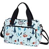 HUA ANGEL Floral Shoulder Tote Bag Casual Body Bag Travel Shoulder Bag with Detachable Strap