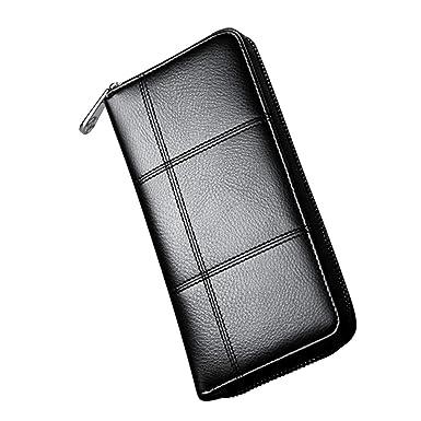 Yy.f Herren Geldbörse Große Kapazität Handtasche Lange Reißverschluss  Geldbörse Multifunktions-Handy-Halter 55e211c14e