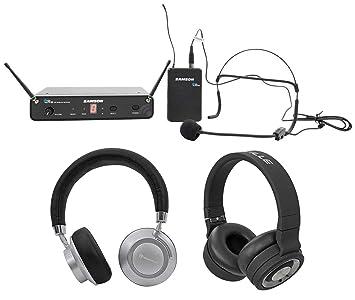 Samson Concierto 88 inalámbrico UHF Sistema de micrófono Headset w/HS5 K-band + auriculares: Amazon.es: Instrumentos musicales