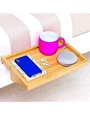 BedShelfie - 3 Couleurs   Table de Chevet Moderne en Bambou   Table de Nuit/Etagère Suspendue l La Table De Nuit pour Les Petites Chambres (en Naturel)