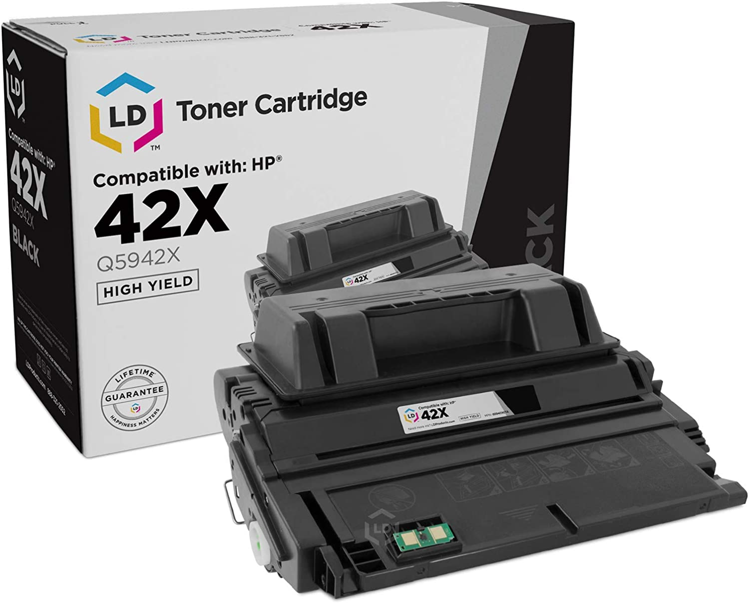 LD Compatible Toner Cartridge Replacement for HP 42X Q5942X High Yield (Black)