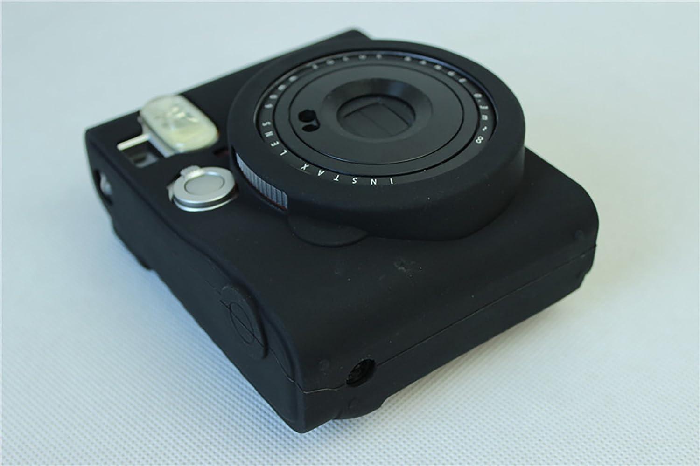 Sacchetto della copertura della cassa della macchina fotografica del gel in silicone protettiva morbida gomma per Fujifilm Fuji Instax Mini 90 fotocamera nero