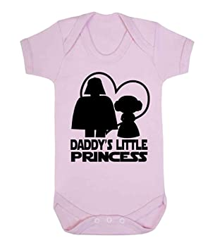 5ace7ee9 Daddy's Little Princess Star Wars Novelty Baby Sleepsuit Vest Babygrow  Onesie Funny Jedi (6-