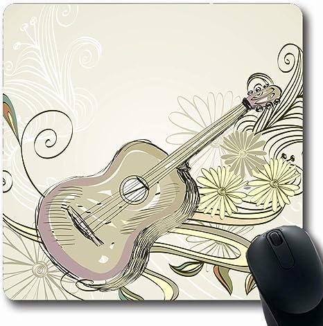 Luancrop Mousepad Patrón de Dibujo Boceto Guitarra acústica en ...