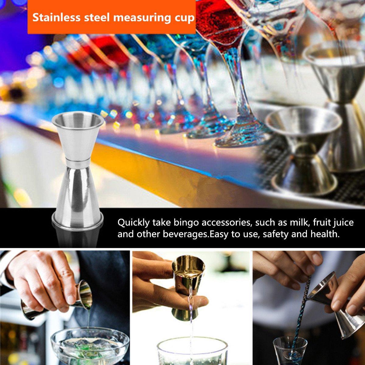 Jeteven Savisto Premium Cocktail Set mit 350ml Cocktail Schüttelbecher,Doppelmessbecher, Korkenzieher, Sieb,Korkenzieher & Flaschenöffner,Eiszange mit Holz Rack