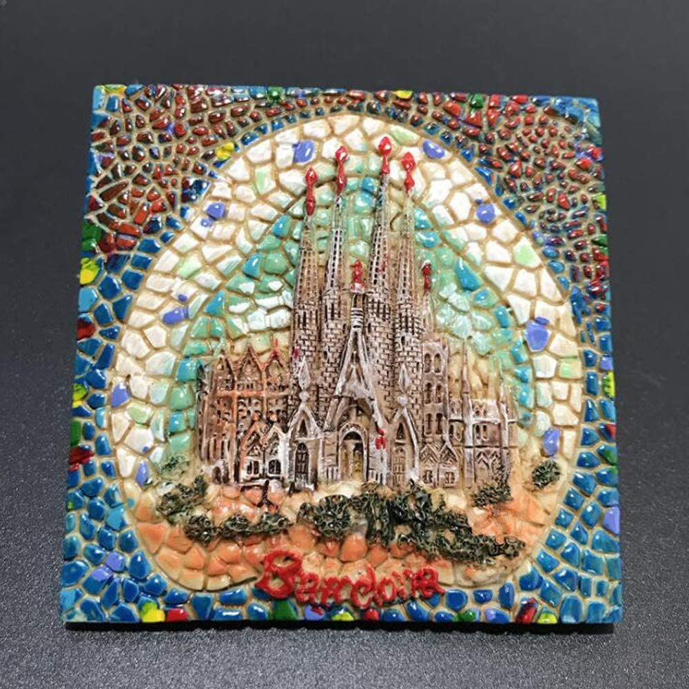 Resin 3D Fridge Magnet,Spanish Gaudí Sagrada Familia Cathedral Barcelona