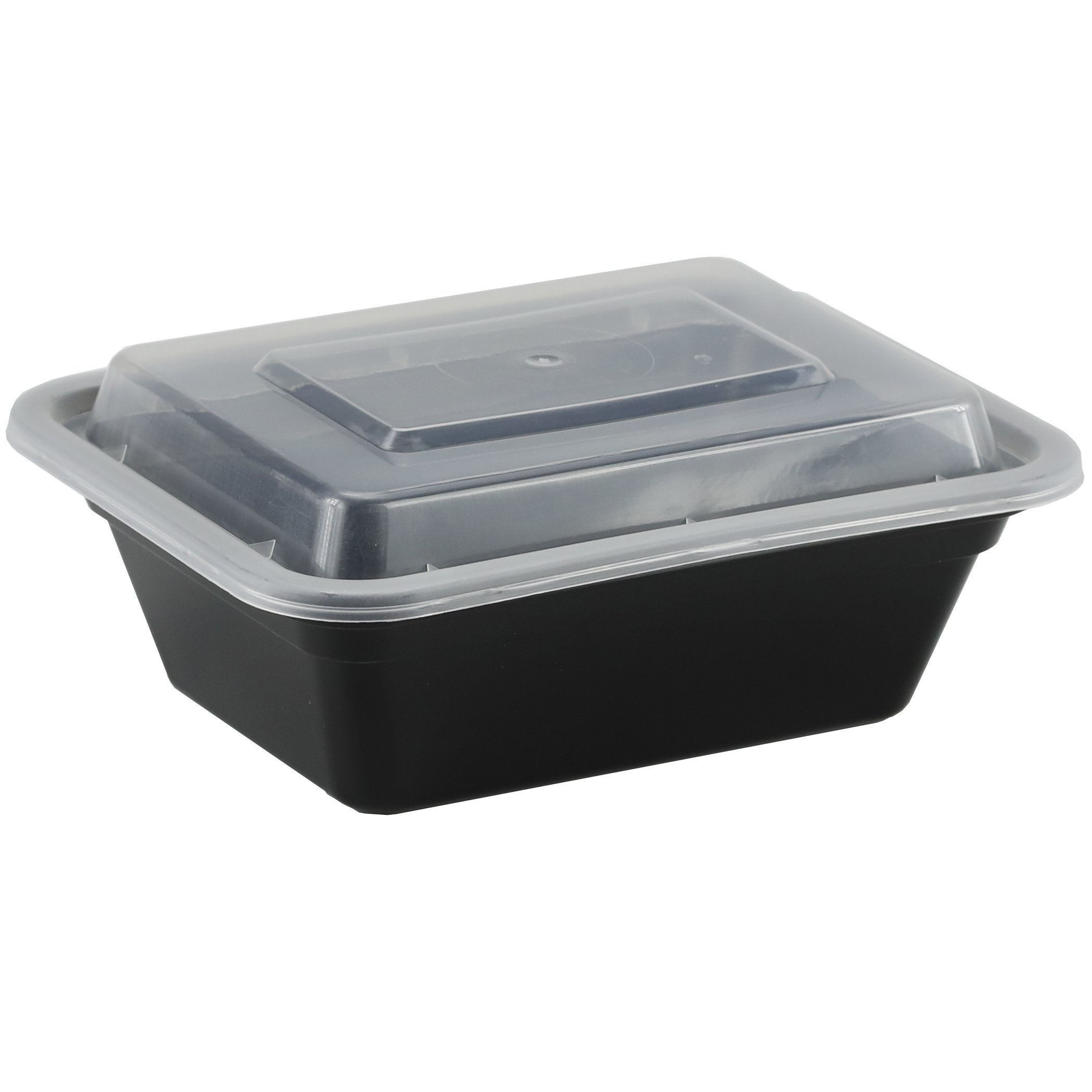 Simply Deliver 5'' x 4'' Medium Rectangular Container with Lid, Microwavable, Black, 150-Count by Simply Deliver