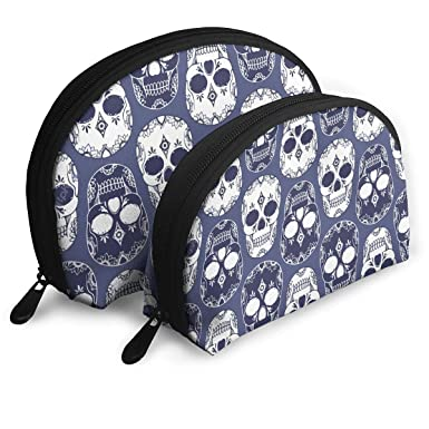 Amazon.com: Skull Clipart Juego de 2 bolsas de maquillaje ...