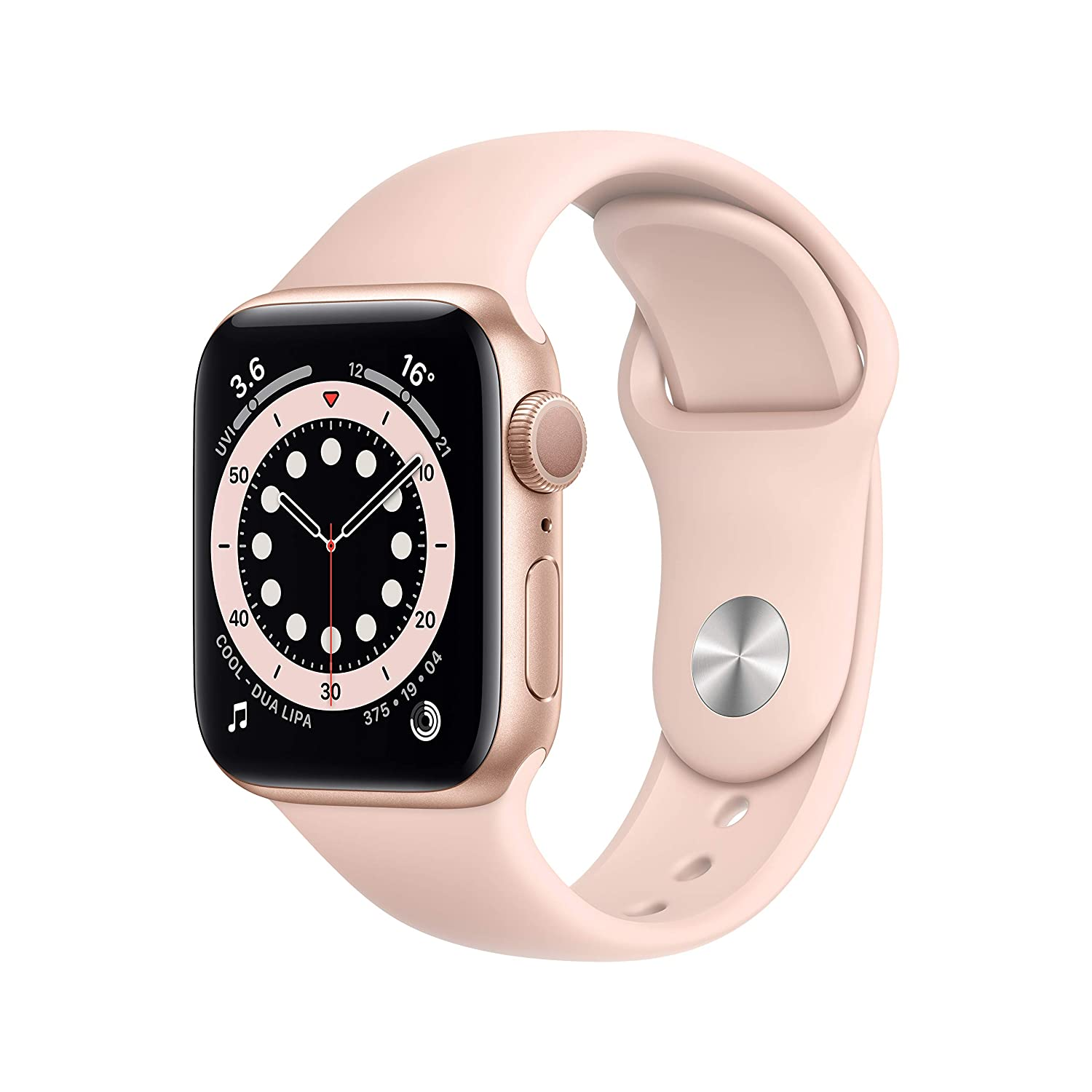 New Apple Watch Series 6 Gps 40mm Gold Aluminium Case With Pink Sand Sport Band Amazon In