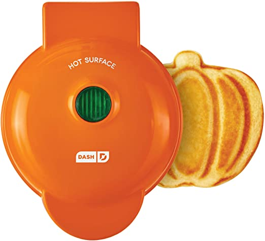 Amazon.com: Dash DMWP001OR Machine for Individual, Paninis, Hash Browns, other Mini waffle maker, 4 inch, Orange pumpkin: Kitchen & Dining