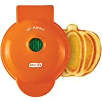 Dash DMWP001OR Mini Waffle Maker Machine for Pumpkin Shaped Individual Waffles, Paninis, Hash browns, & other on the go…