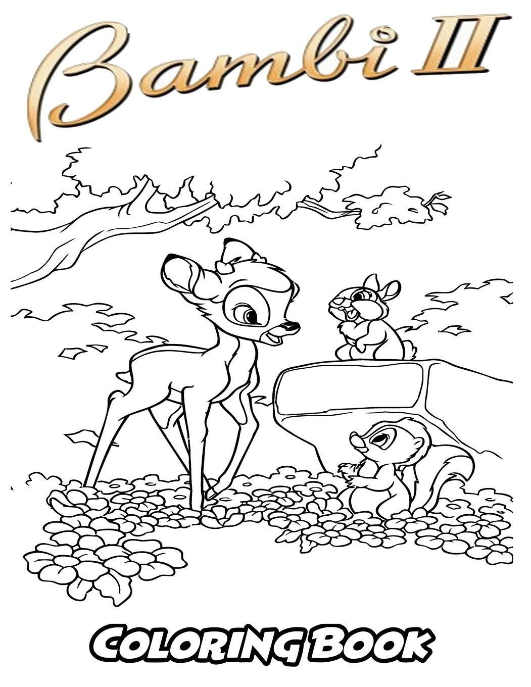 Bambi 2 coloring book coloring book for kids and adults activity book with fun easy and relaxing coloring pages perfect for children ages 3 5 6 8