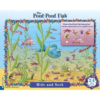 New York Puzzle Company - Pout Pout Fish Pout-Pout Hide and Seek - 24 Piece Jigsaw Puzzle: Toys & Games