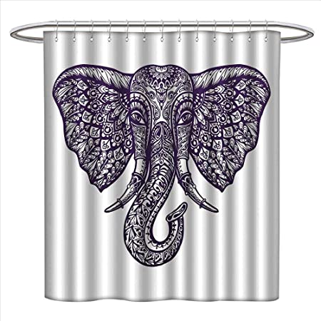 duommhome - Cortina de Ducha con diseño de Elefante Bohemio de ...