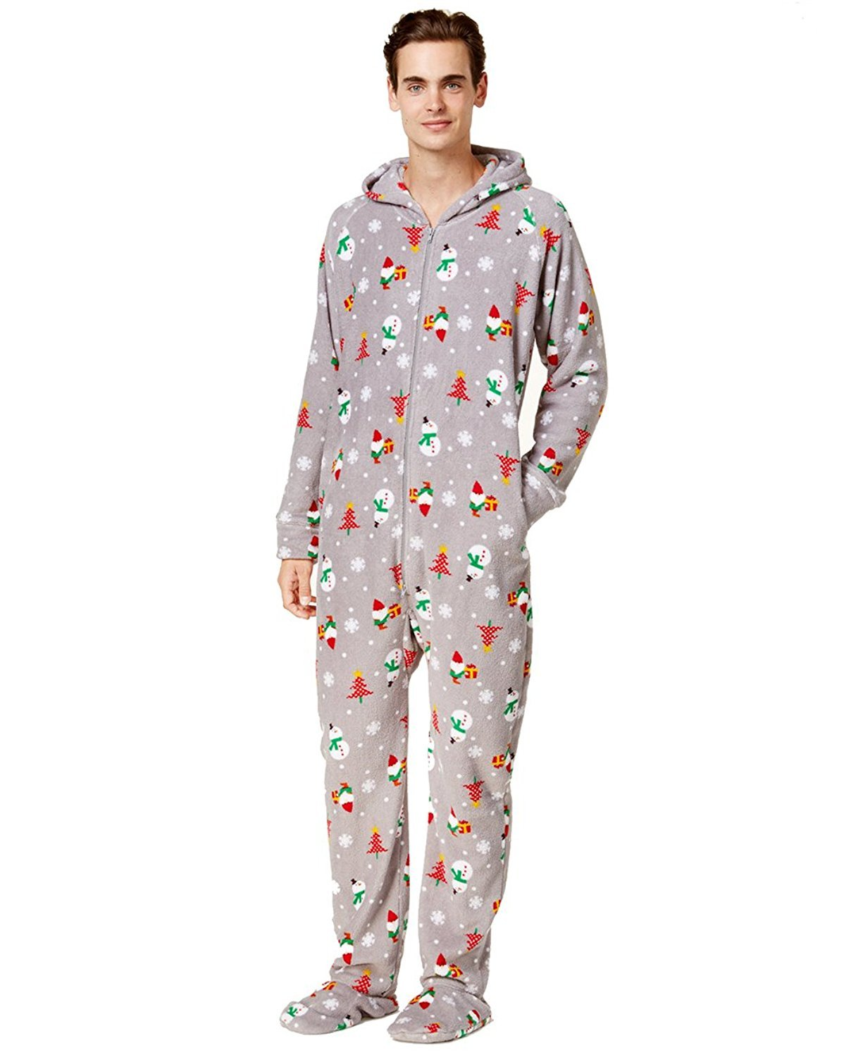 FAMILY PJS-MMG Family Pajamas Mens 1-Pc. Holiday Happy Gnom Happy Gnomes XL by Family Pajamas (Image #1)