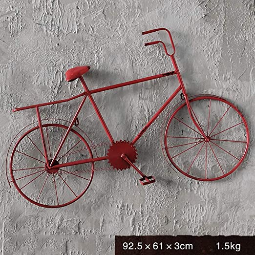 NLQZS-Y Hierro Forjado Retro Industrial Viento Bicicleta Modelo ...