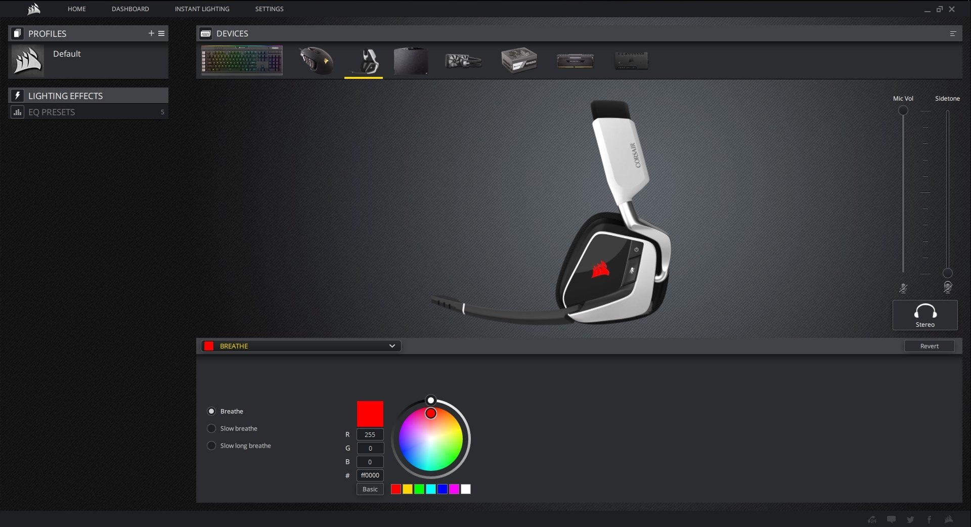 Corsair Void Pro Rgb Usb Gaming Headset Dolby 71 Surround Sound White Headphones For Pc Discord Certified 50mm Drivers Carbon Ca 9011154 Na Computers