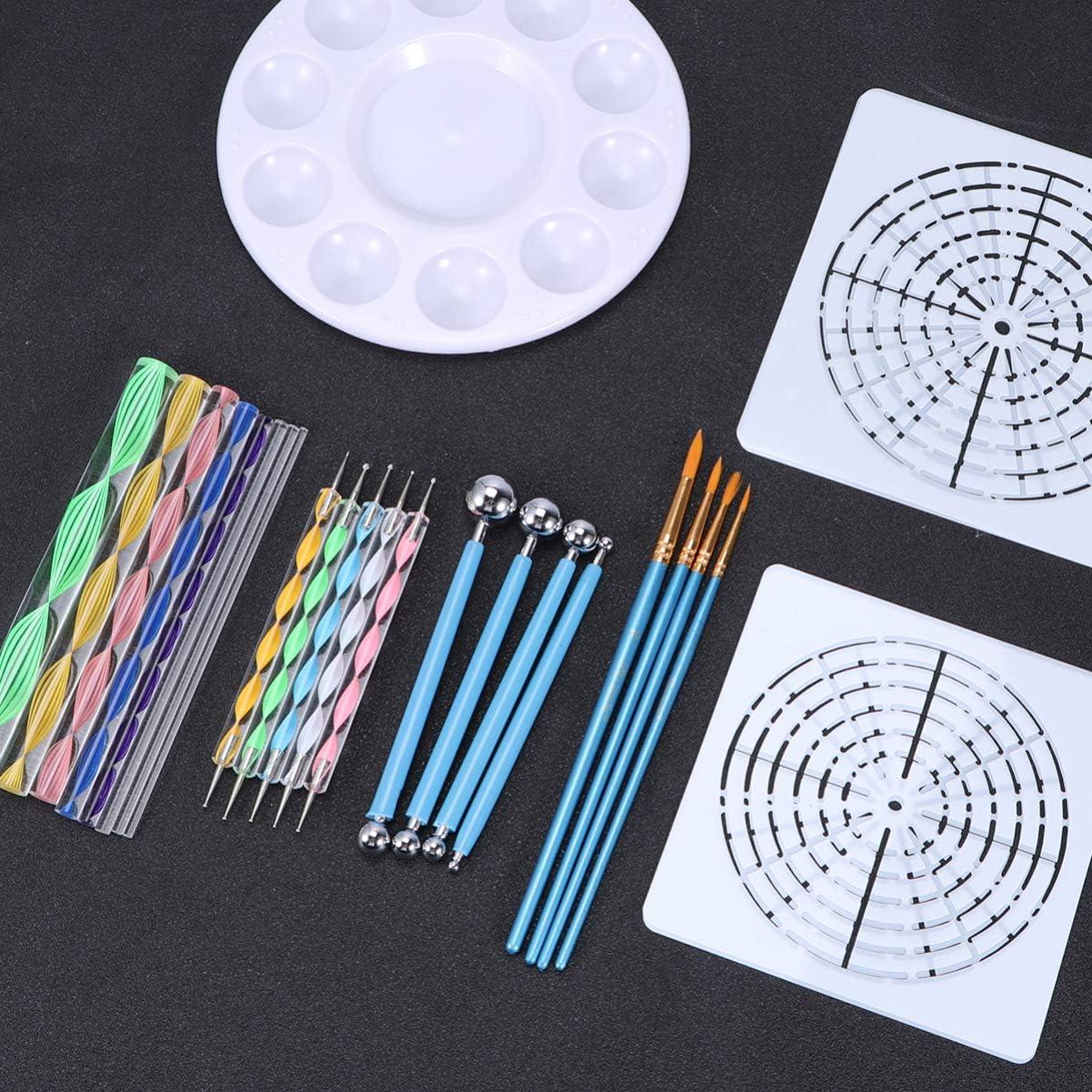 SUPVOX 26pcs Mandala Tools Mandala Painting Dotting Stencils Mandala Kit