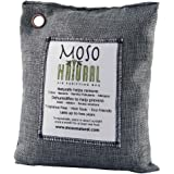 Moso Natural Air Purifying Bag 600-Grams. Natural Odor Eliminator. Fragrance Free, Chemical Free, Odor Absorber. Captures and Eliminates Odors. Natural Color Charcoal