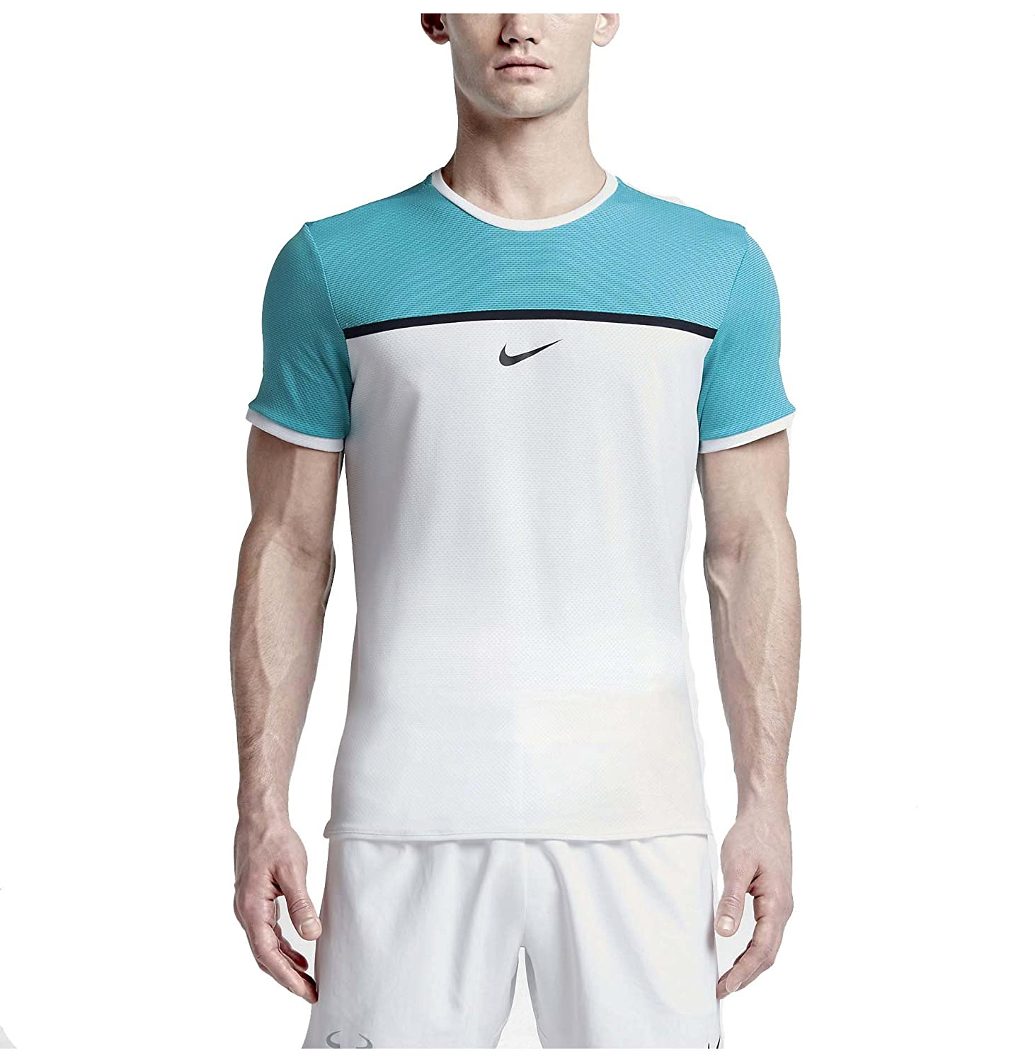 Amazon.com: Nike Men's Dri-Fit Court Challenger Premier Rafa Tennis Shirt-Omega  Blue/White-XL: Sports & Outdoors