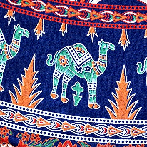 Sttoffa 38 Pouces De Longueur Élastique Jupe Rajasthani D1 Bleu