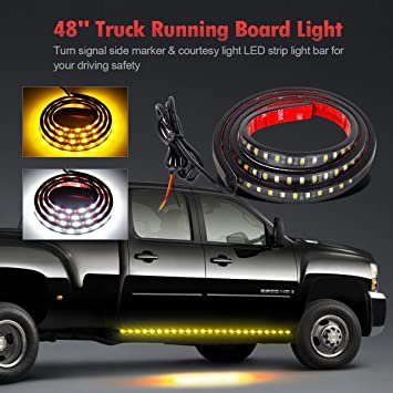 Amazon.com: Partsam Barra, franja LED de 48 pulgadas 120SMD ...