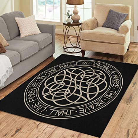 Amazon.com: Semtomn Area Rug 5\' X 7\' Viking Scandinavian ...