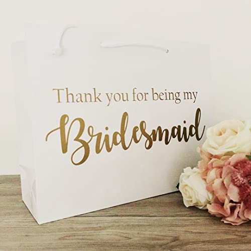 Bridal Party Gift Bags White Wedding Gift Bag Thank You Gift Bags