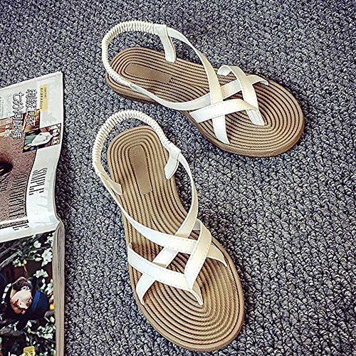 Fashion Sandals Outdoor Women Bandage Sexy Putars Shoes Shoes White Leisure Flat Women Summer Lady TdFav