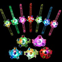 wellvo Party Favors for Kids 14 Pack Light Up Bracelets Glow in The Dark Party Supplies Girls Boys Kid Birthday Goodie…