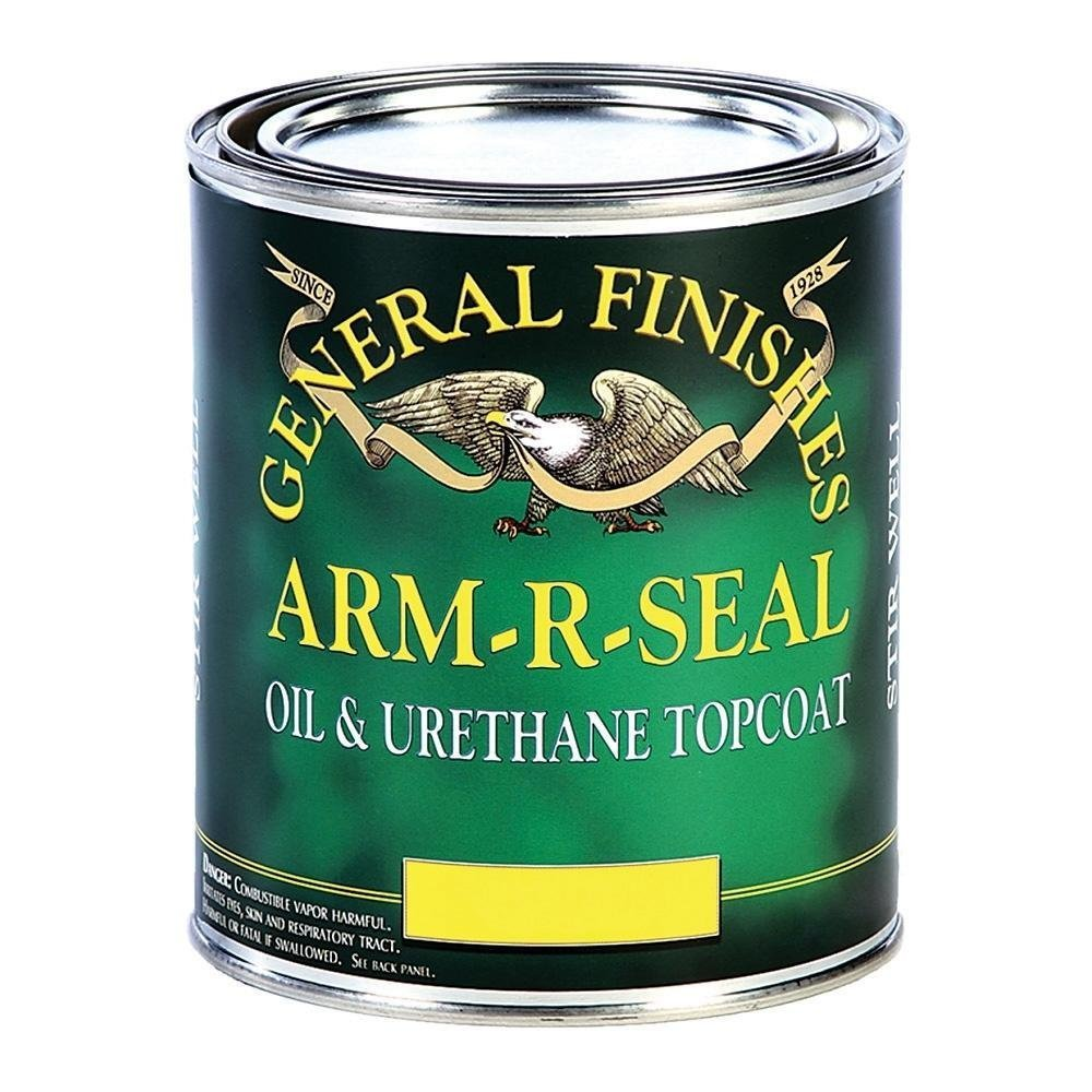 General Finishes SGQT Arm-R-Seal Urethane Topcoat, Semi-Gloss, 1 Quart