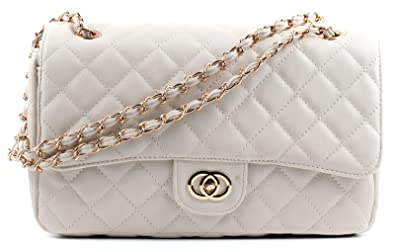 Gold Chain Quilted Shoulder Bag - OS / METALLIC I Saw It First DY9ajD