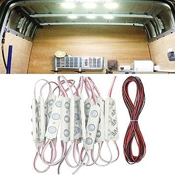 ROYFACC 60 LED Car Interior Light Bright White Lighting Dome Lamp Ceiling Work Lights Kit for Van Truck Auto Car Vehicle Caravan DC 12V (20 Modules, White)